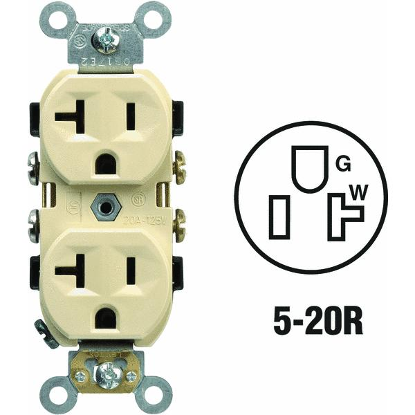 Leviton Heavy-Duty Duplex Outlet