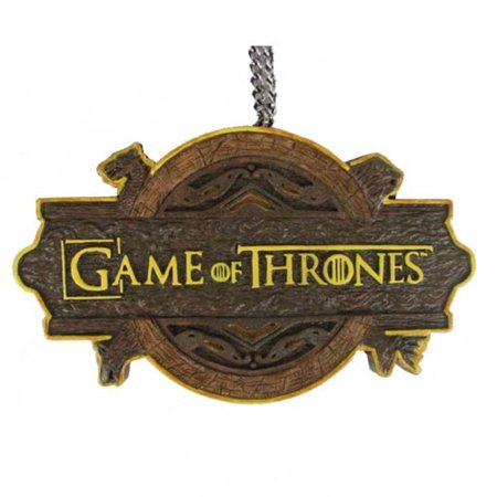 Brown and gold game of thrones logo decorative for Game of thrones garden ornaments