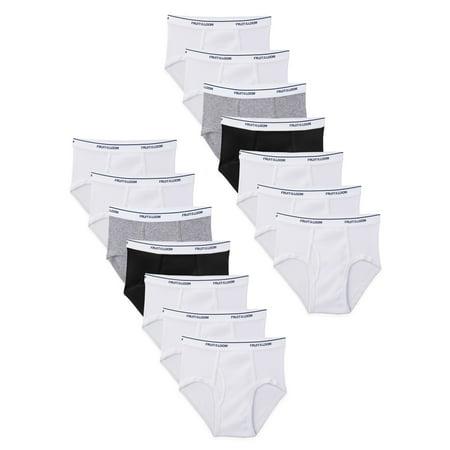 Fruit of the Loom Boys Underwear, Assorted Wardrobe Briefs, 14 Pack (Little Boys & Big Boys)