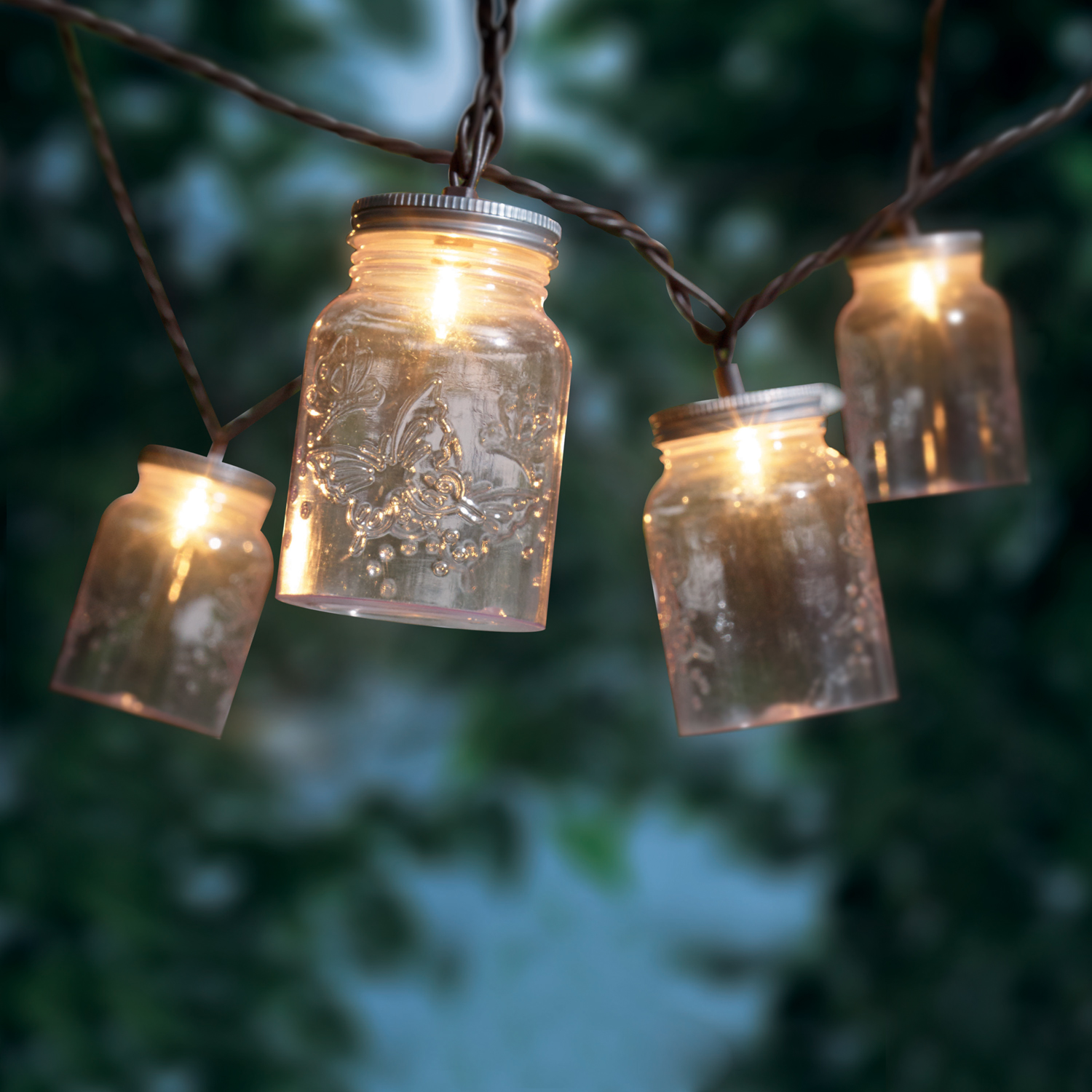 Outdoor String Lights White: Outdoor String Lights Mason Jar Lighting Patio Deck