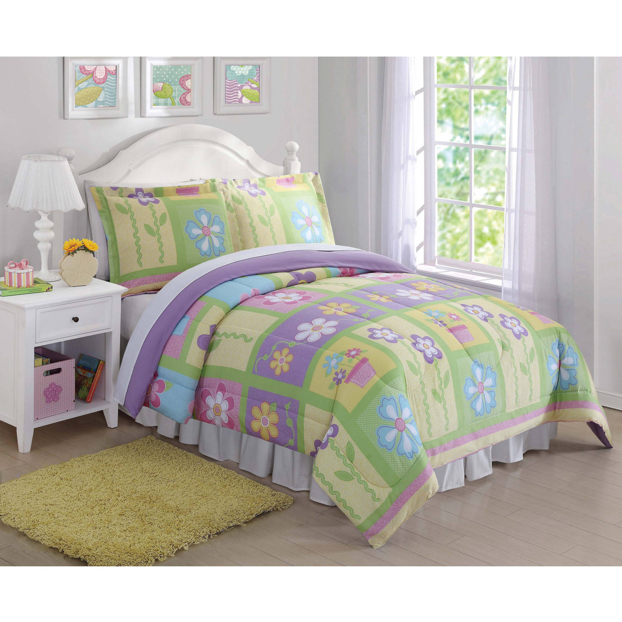 Kids Sweet Flowers Comforter Set