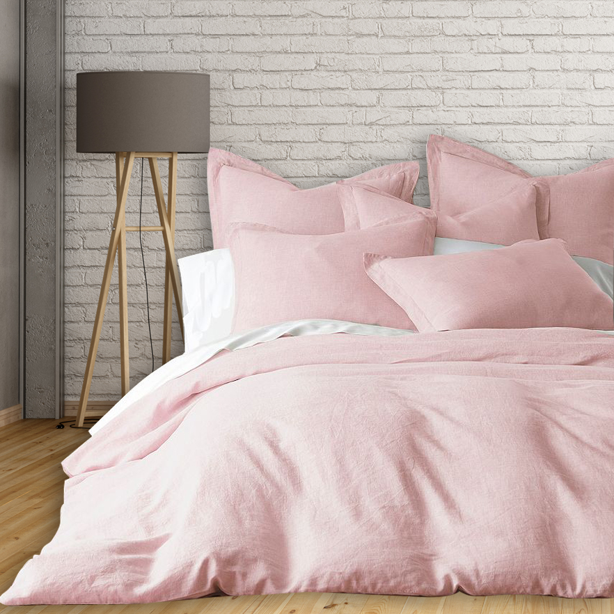 Linen Duvet Cover Set - Salmon / King - image 1 of 1