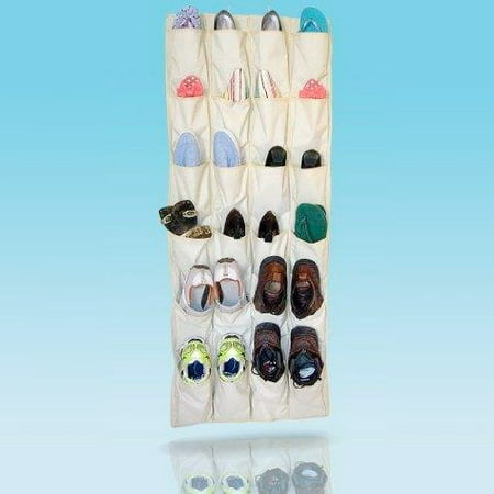 Felji Shoe Rack Closet Organizer System 24 XL Pockets Over the