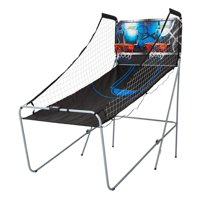 MD Sports 2-Player Arcade Basketball Game, LED Scoring System, Black/Blue