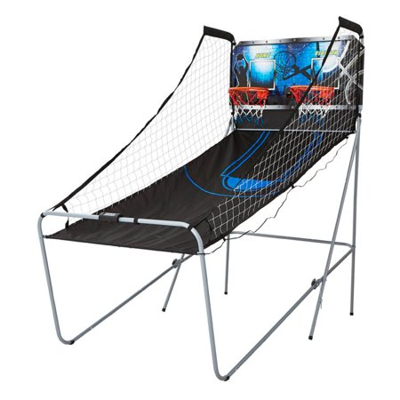 MD Sports 2-Player Arcade Basketball Game, Black/Blue