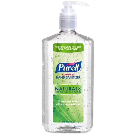 - (Pack of 4) PURELL Advanced Hand Sanitizer Naturals with Plant Based Alcohol, 28 Oz Pump