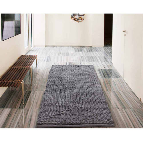 VCNY Home Barron Cotton Chenille Bath Rug Runner, 2' x 5'