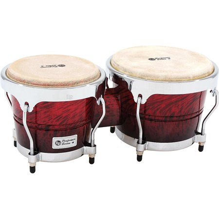 - LP Performer Series Bongos with Chrome Hardware Red Fade