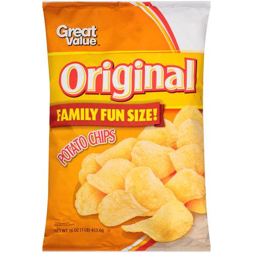 Great Value(tm) Original Potato Chips, 16 oz