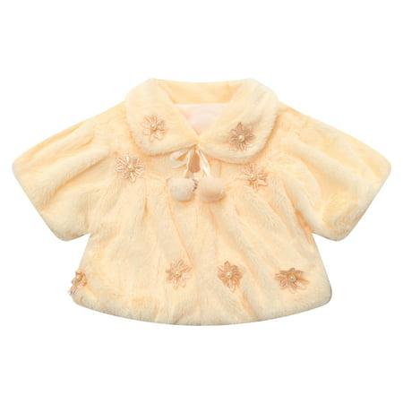 Richie House Little Girls Light Yellow Flowery Winter Waistcoat 4 (Classic Waistcoat)