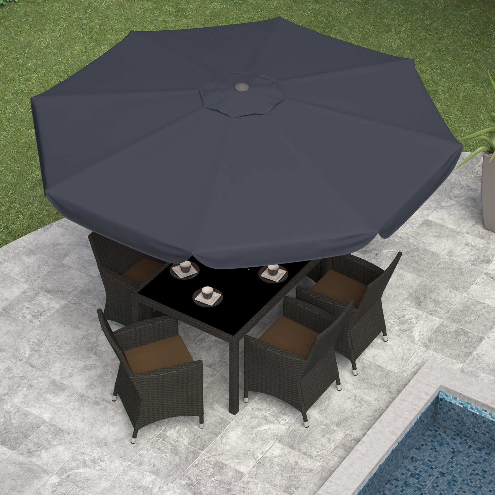 CorLiving Tilting Patio Umbrella by Sonax