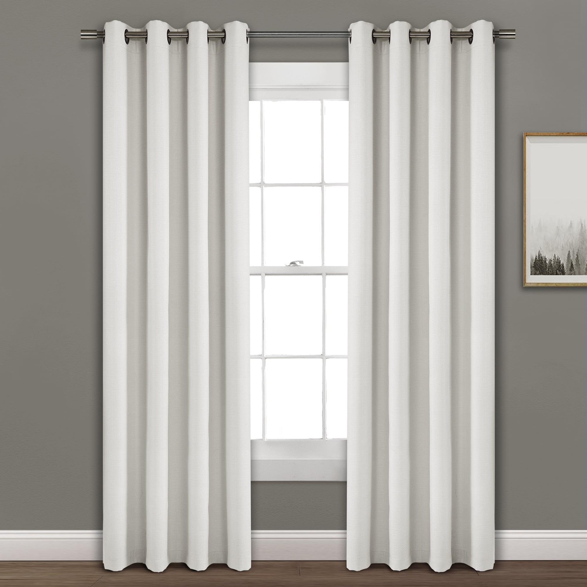 Faux Linen Absolute Grommet Blackout Window Curtain Panel