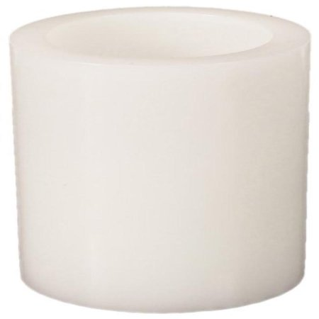 - Melrose International LED Wax Pillar 4 by 5-Inch Candle