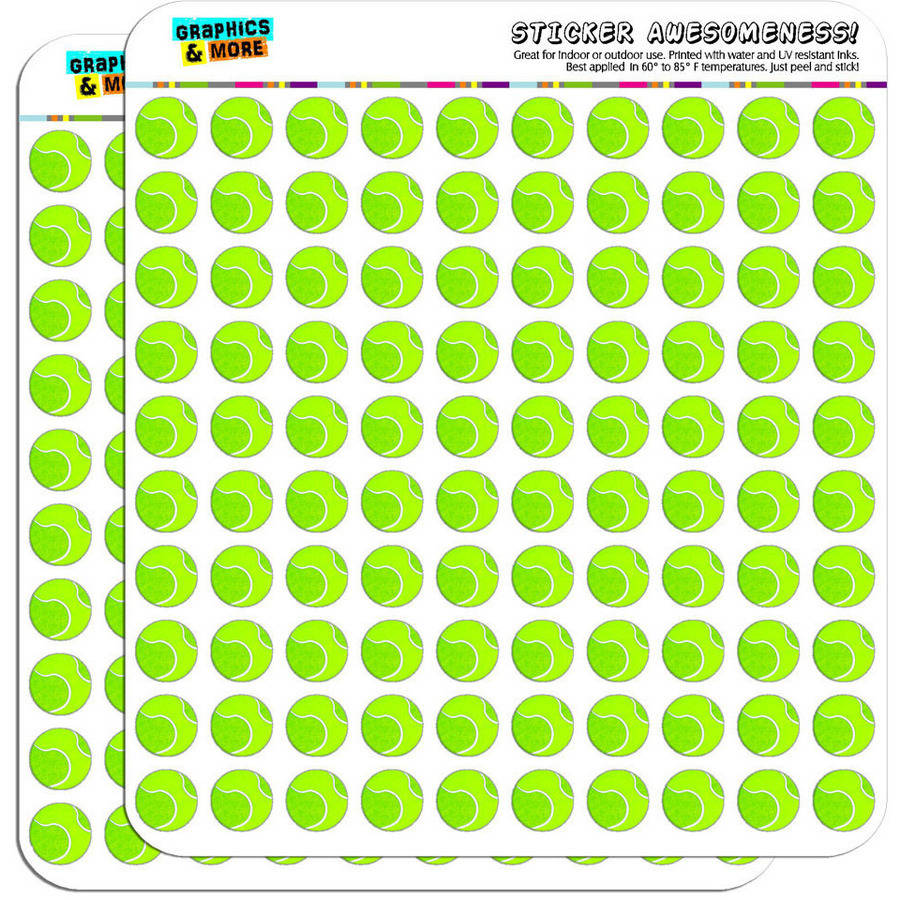"Tennis Ball 200 1/2"" (0.5"") Planner Calendar Scrapbooking Crafting Stickers"