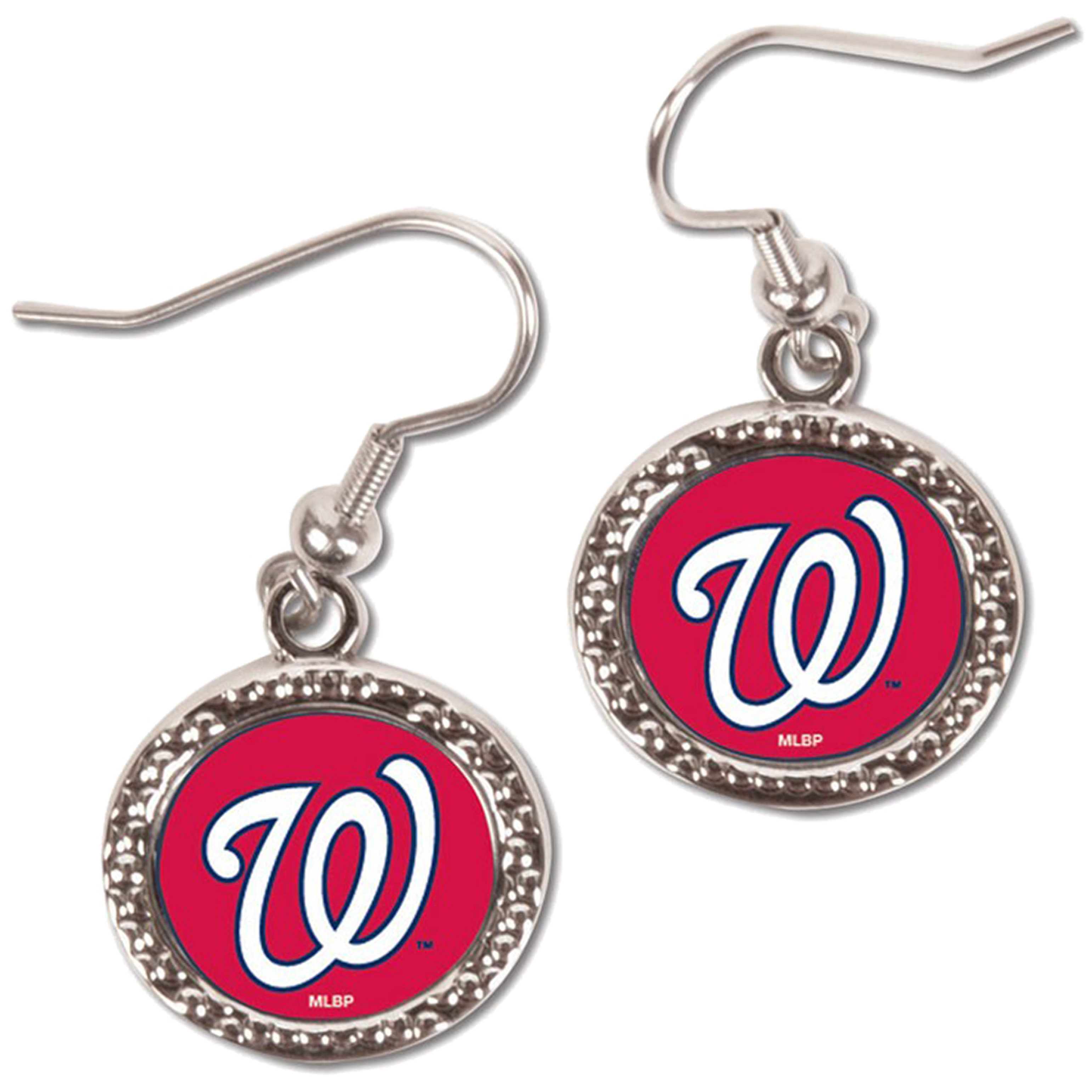 Washington Nationals WinCraft Women's Round Dangle Earrings - Red - No Size