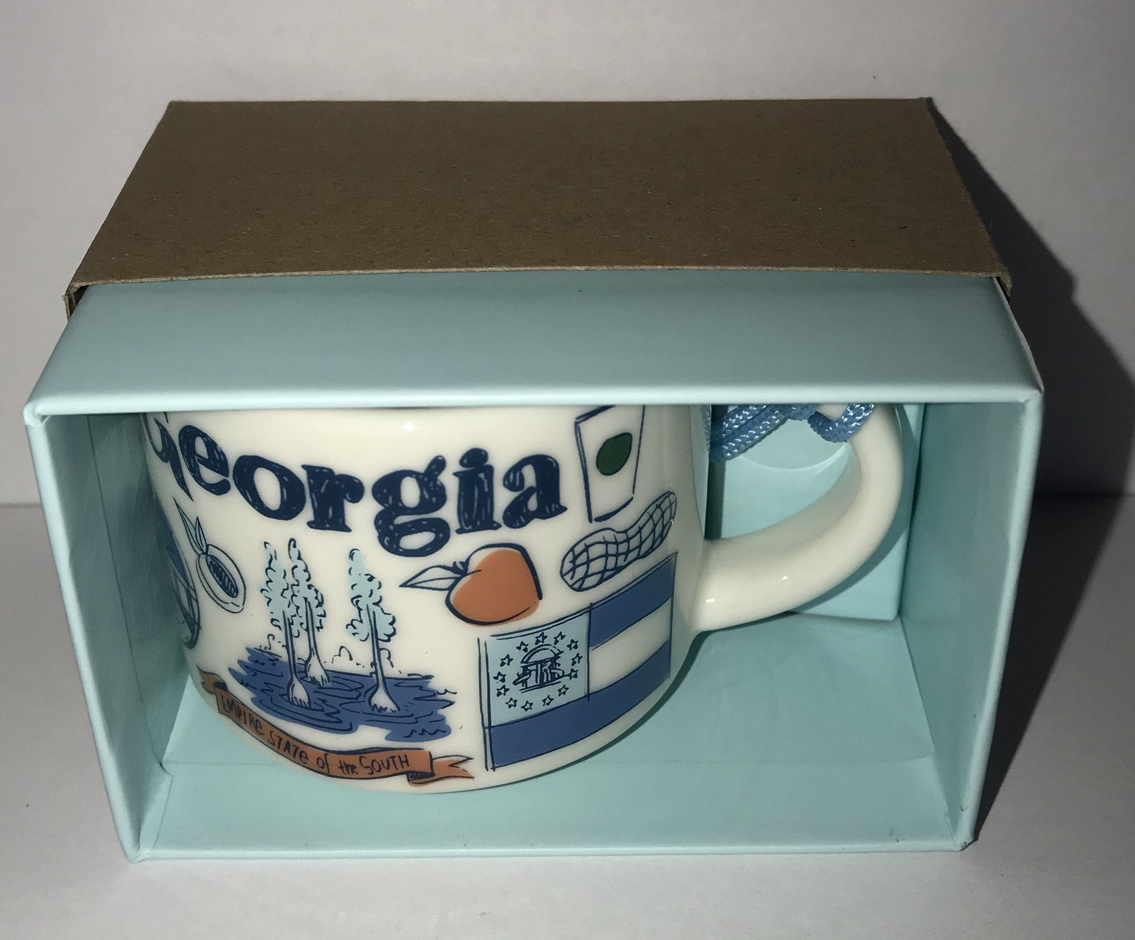 Starbucks Coffee Been There Georgia Ceramic Mug Ornament New With Box Walmart Com Walmart Com