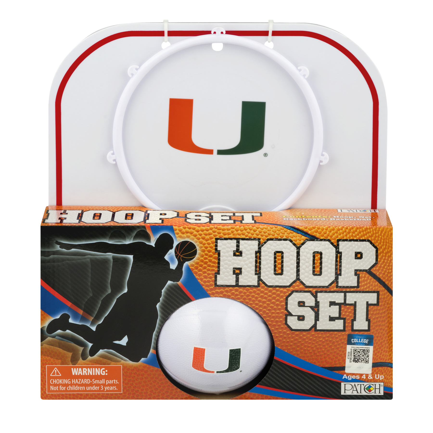 Officially Licensed NCAA Miami Hoop Set