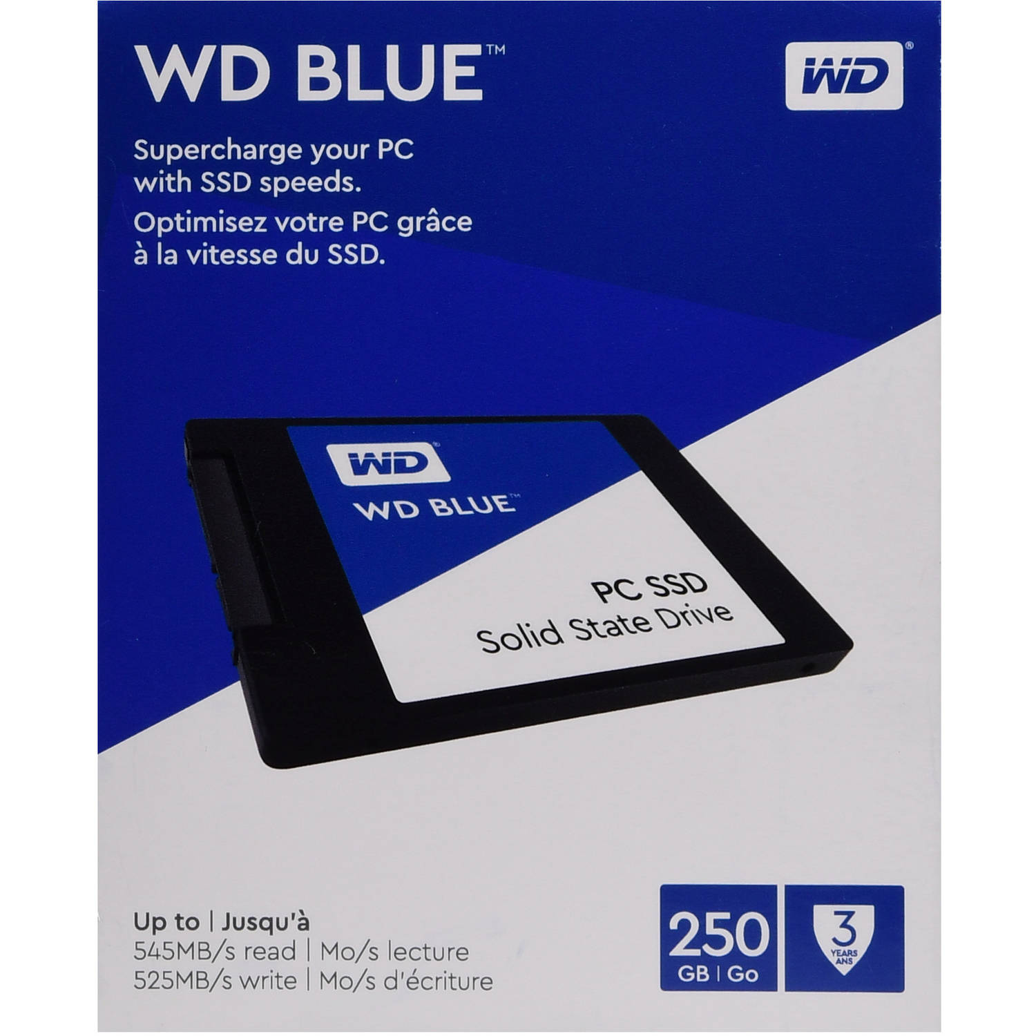 WD PC SSD 250GB Internal SATA SSD (Solid State Drive) - WDBNCE2500PNC-WRSN