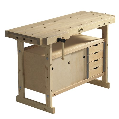 Sjobergs Nordic Plus 1450 57''W Wood Top Workbench and St...