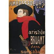 LIEBERMANS HAD1237 Ambassadeurs - Poster by Henri de Toulouse-Lautrec (8x11)