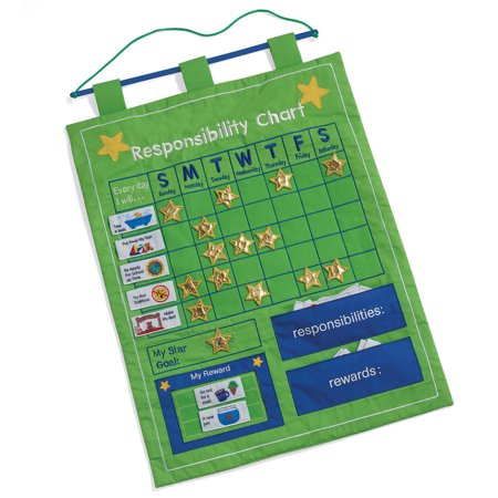 One Step Ahead Kids Responsibilty And Reward Chart   Fabric Wall Chart For Early Learning
