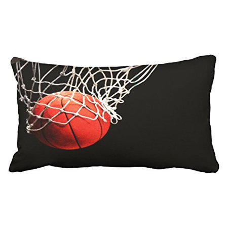 Basketball Pillow (WinHome Decorative Fashionable Design Basketball Bed Pillow Cases Size 20x30 inches Two Side )