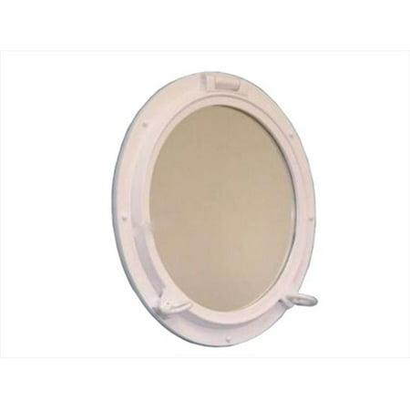 Ship Porthole (Handcrafted Model Ships White Porthole - 24 - W Gloss White Porthole Window 24 inch Port Holes Decorative)