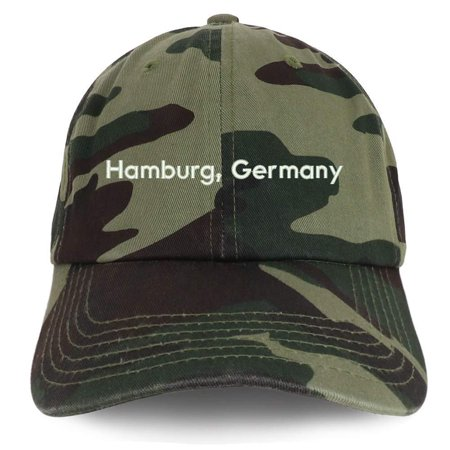 Trendy Apparel Shop Hamburg Germany Embroidered Cotton Unstructured Dad Hat (German Hat)