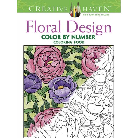 Creative Haven Coloring Books: Creative Haven Floral Design Color by Number Coloring Book - Coloring By Numbers
