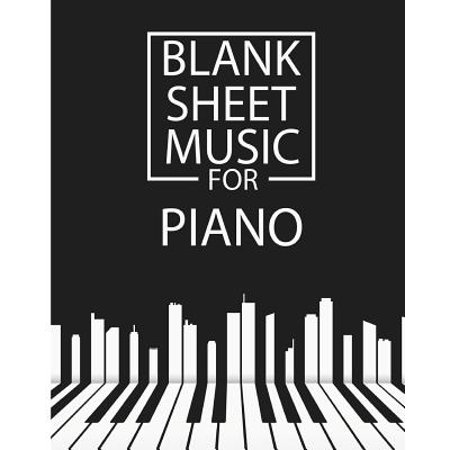 Blank Sheet Music for Piano : Staff Paper 12 Staff 100pages 8x10