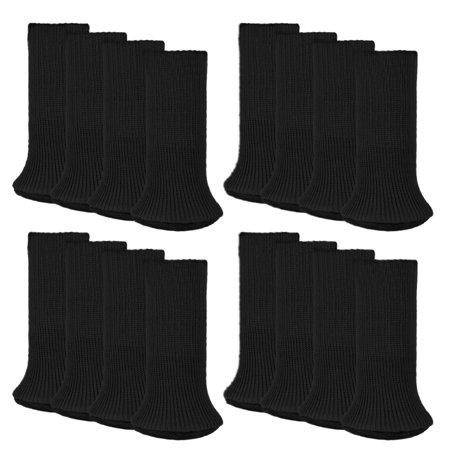 Furniture Socks, OHSAY USA 16 Pack Knitted Furniture Feet Socks Chair Leg Floor Protectors Chair Leg Socks (Brown, Black) ()