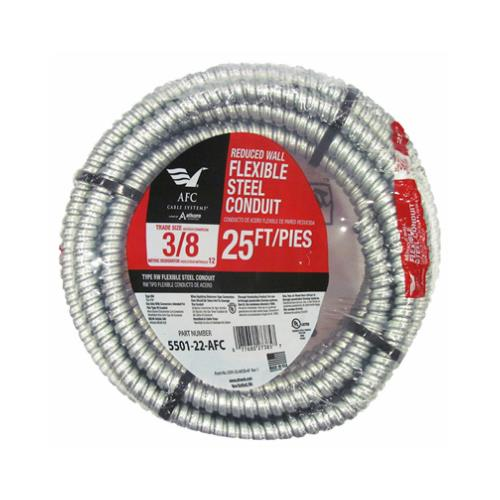 "Afc Cable Systems 5501-22-AFC 3/8""x25' Reduced Wall Steel Conduit - Coil"