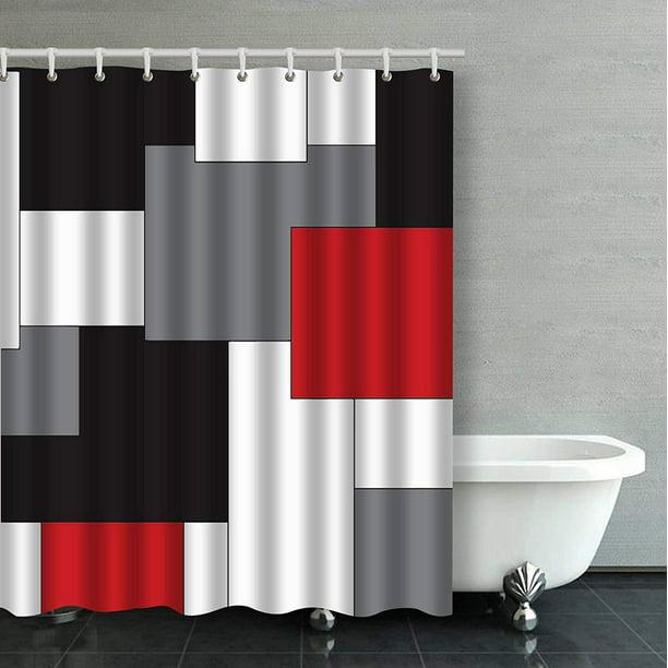 Bpbop Wavy Vertical Stripes Red Black