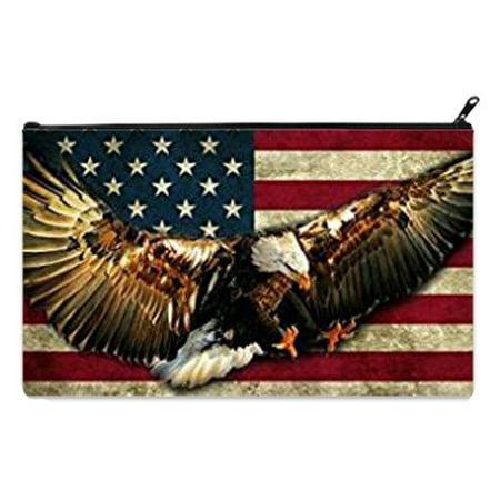 Amercian Eagle Kids (POPCreation American design Flag Eagle Kids School Pencil Case Pencil Bag Zipper Organizer Bag (Twin sides) 9x5.5)