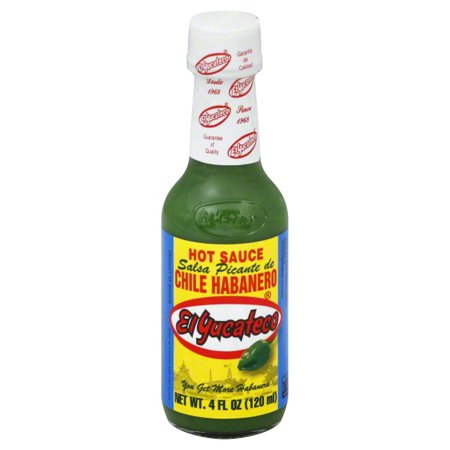 (4 Pack) El Yucateco Salsa Picante De Chile Habanero Hot Sauce, 4 fl oz](Chili Hat)
