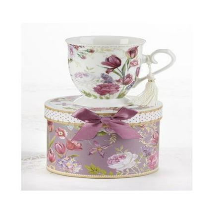 "Delton 4.6"" Porcelain Mug in Gift Box, Tulip"