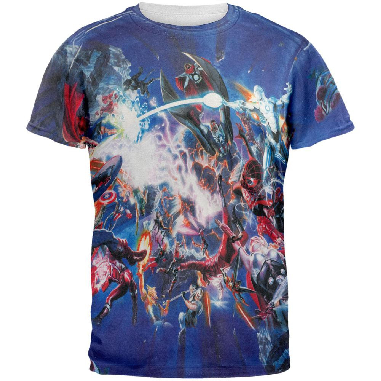 Marvel Heroes - Secret Planet All Over Adult T-Shirt