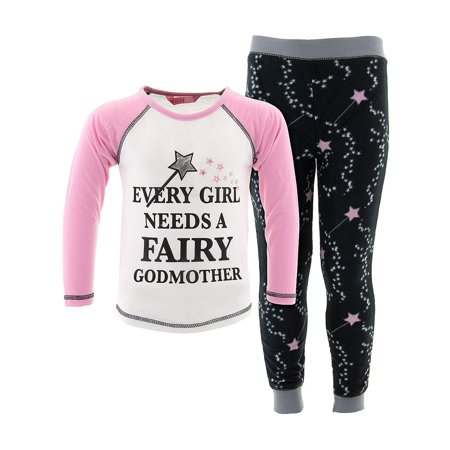 Katnap Kids Girls A Fairy Godmother White Pajamas