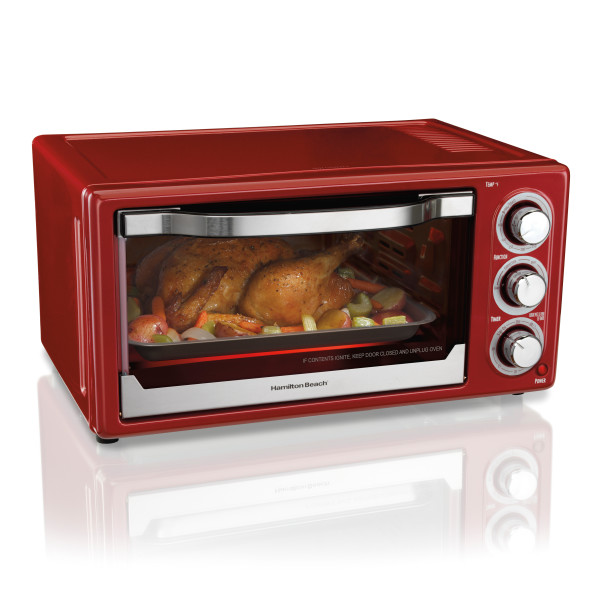 T Fal Convection Cooker Toaster Oven W Broiler: Hamilton Beach 6 Slice Toaster Convection Broiler Oven Red