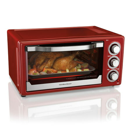 ... Beach 6 Slice Toaster Convection/Broiler Oven, Red - Walmart.com