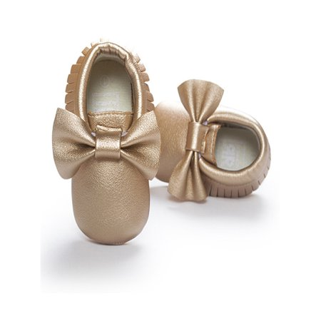 Baby Crib Tassels Bowknot Shoes Toddler Sneakers Casual Non-slip Shoes ()