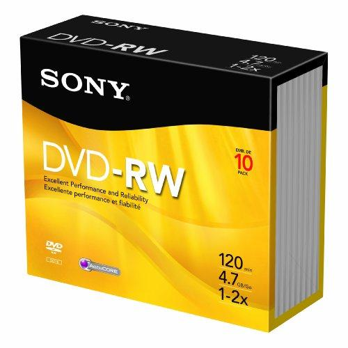 Sony Dmw-47/10 Rewritable Dvd-rw 10 Pack 4x (sony Dmw47/10)