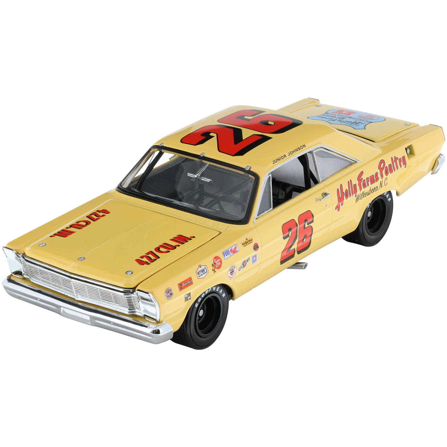 Lionel Racing Junior Johnson Holly Farms 1965 Ford Galaxie Diecast Car, 1:24th Scale,... by Lionel Racing