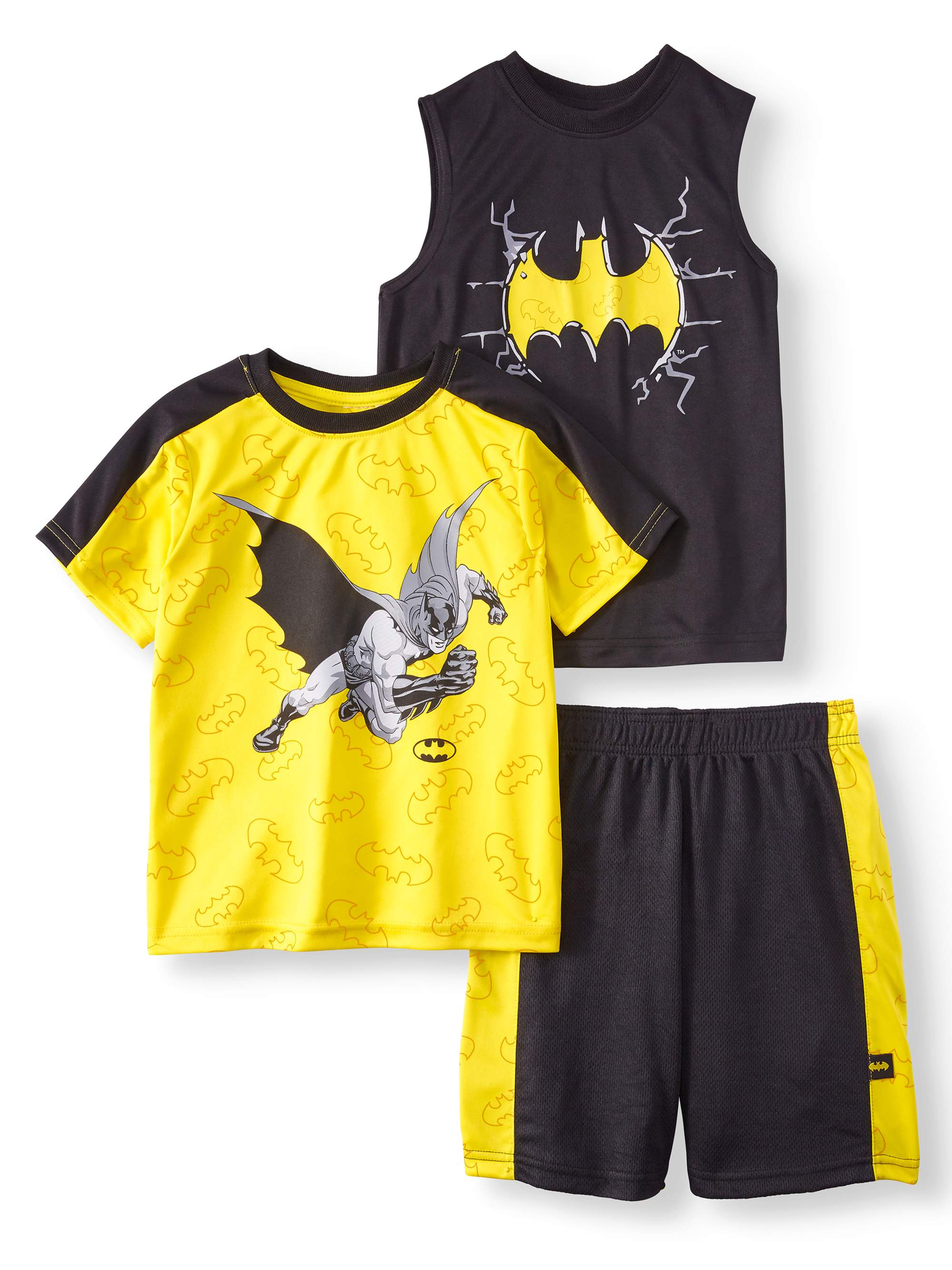 Performance Tee, Muscle Tank, and Shorts, 3-Piece Outfit Set (Little Boys)
