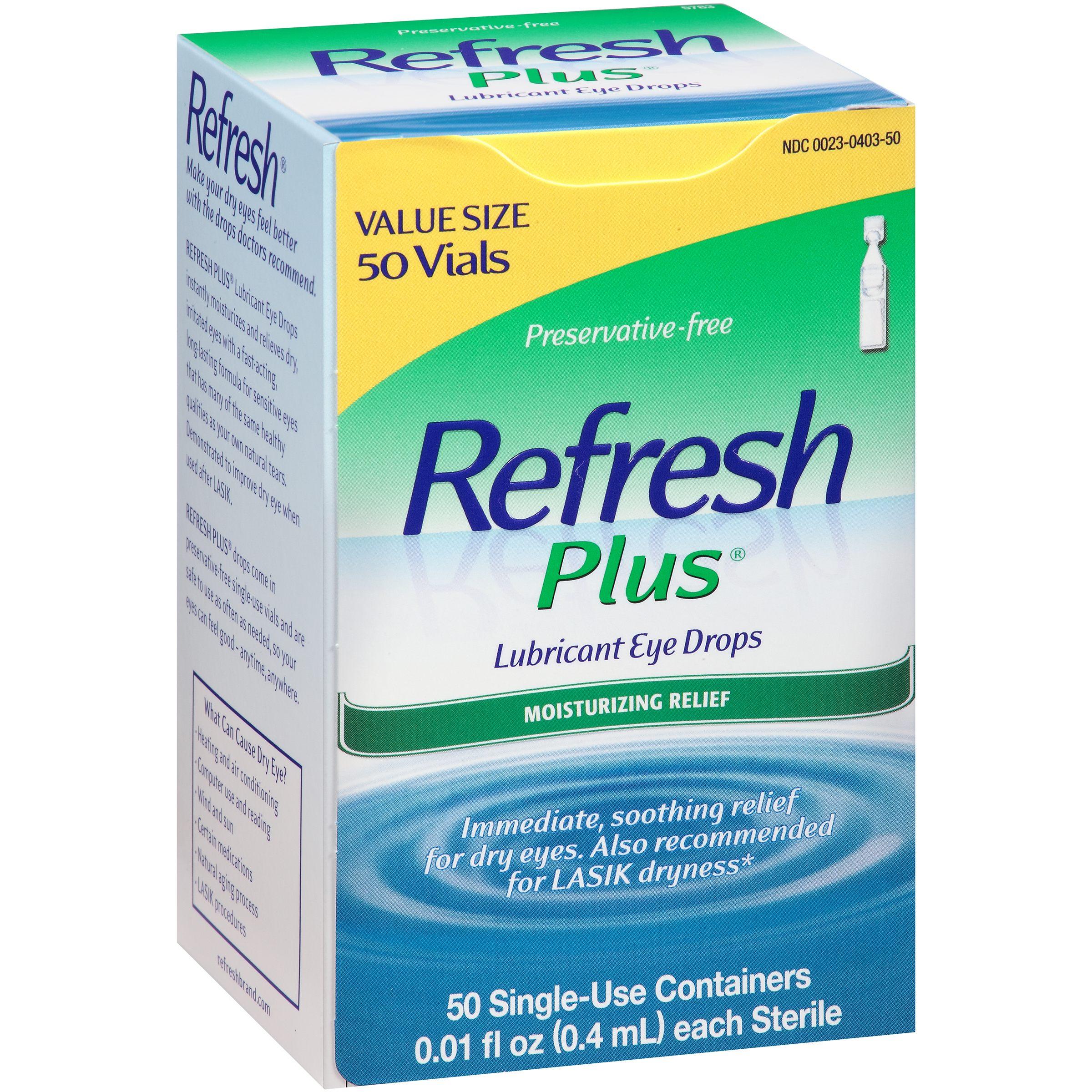 Refresh Plus® Lubricant Eye Drops 50-0.01 fl. oz. Tubes
