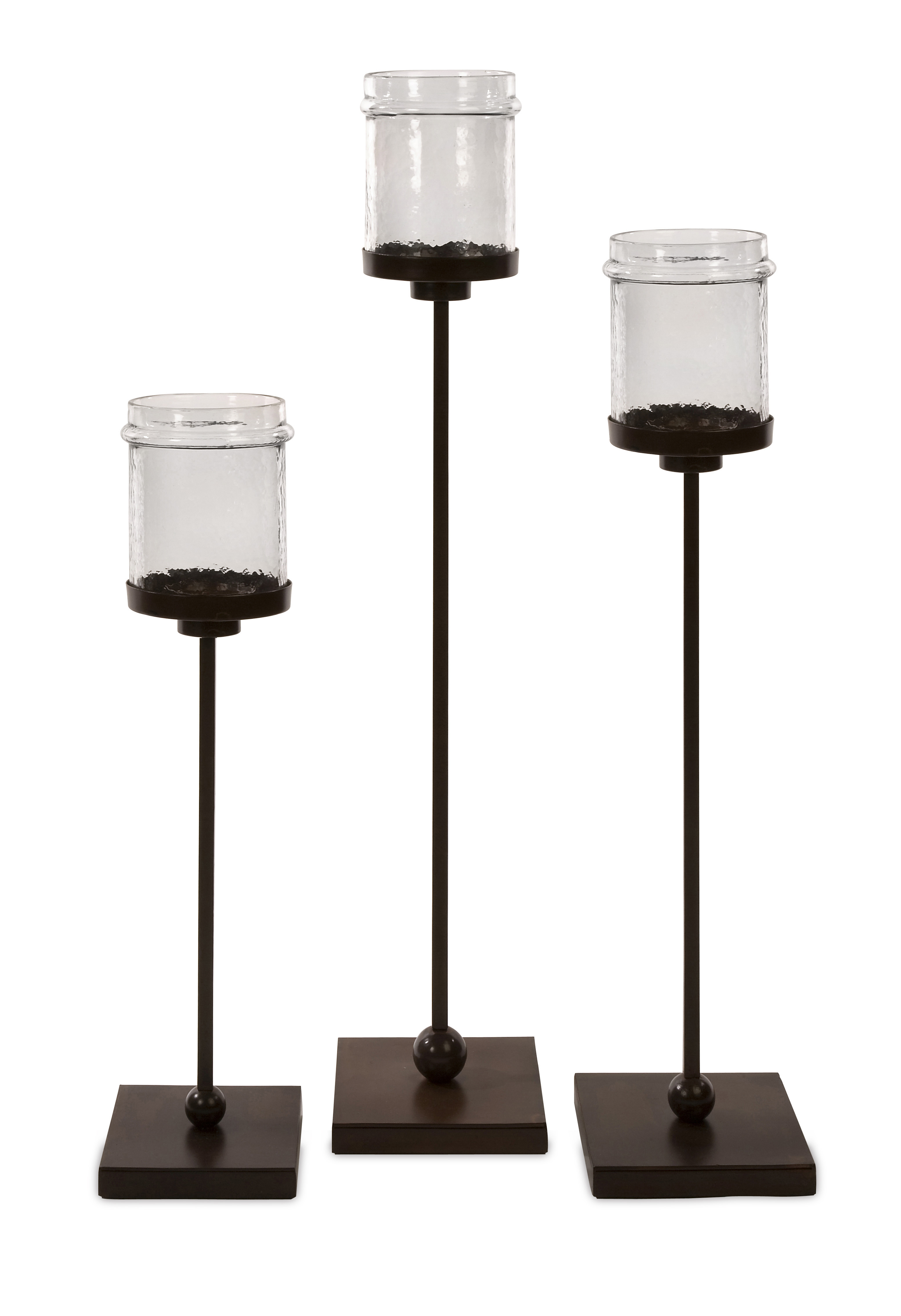 better homes and gardens ceramic pillar candle holders set of 3