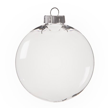 Clear Plastic Ornaments: 100mm Disc Christmas Ornament ()