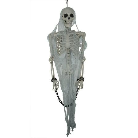 Prisoner Skeleton Halloween Prop (Talking Skeleton Prisoner Hanging Prop Halloween)