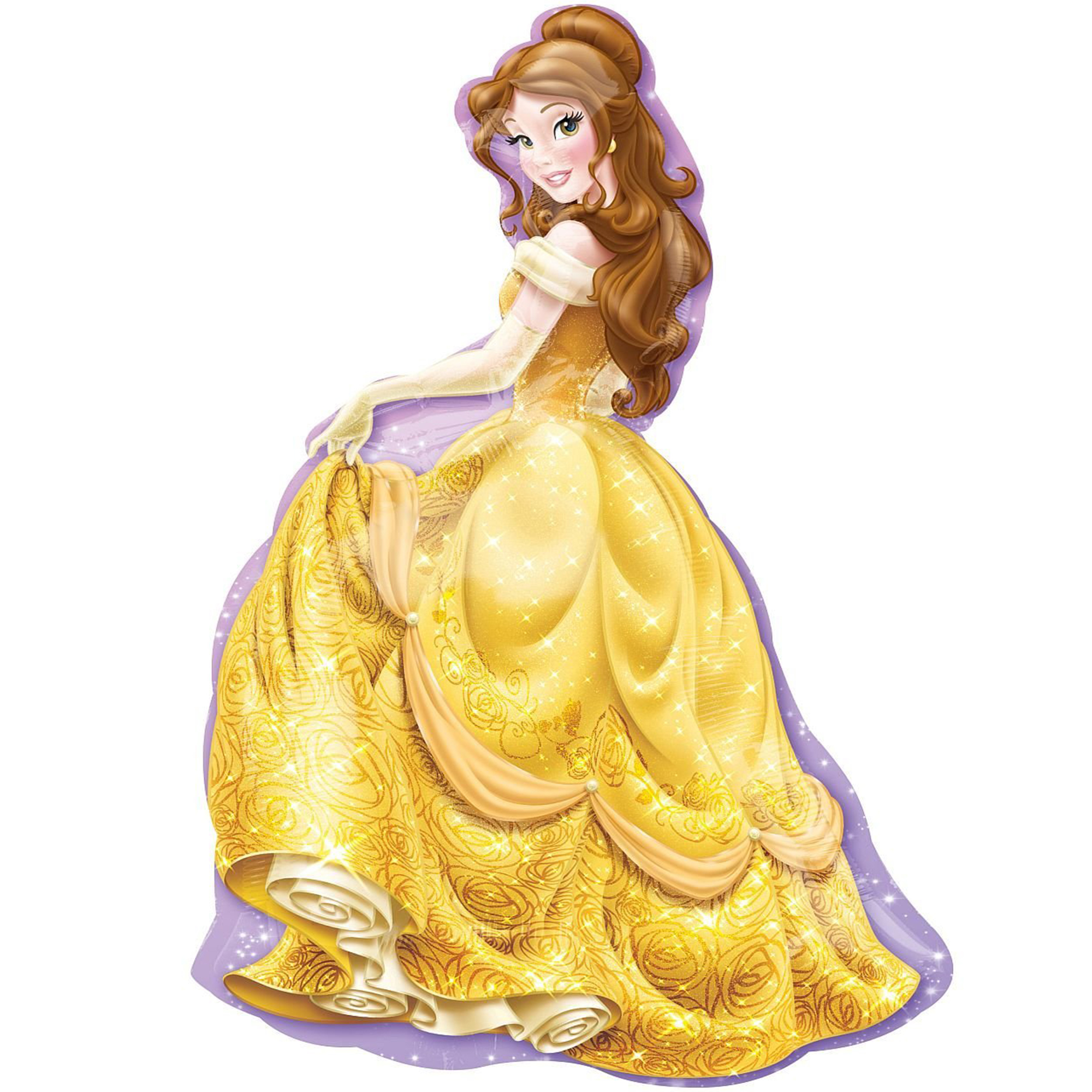 "Disney Princess Belle Beauty and The Beast Super Shape Foil Balloon 39"""