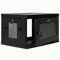 NavePoint 6U Wall Mount Rack Enclosure Server Cabinet 16.5 Inch Deep, Switch-Depth Perforated Door Lock